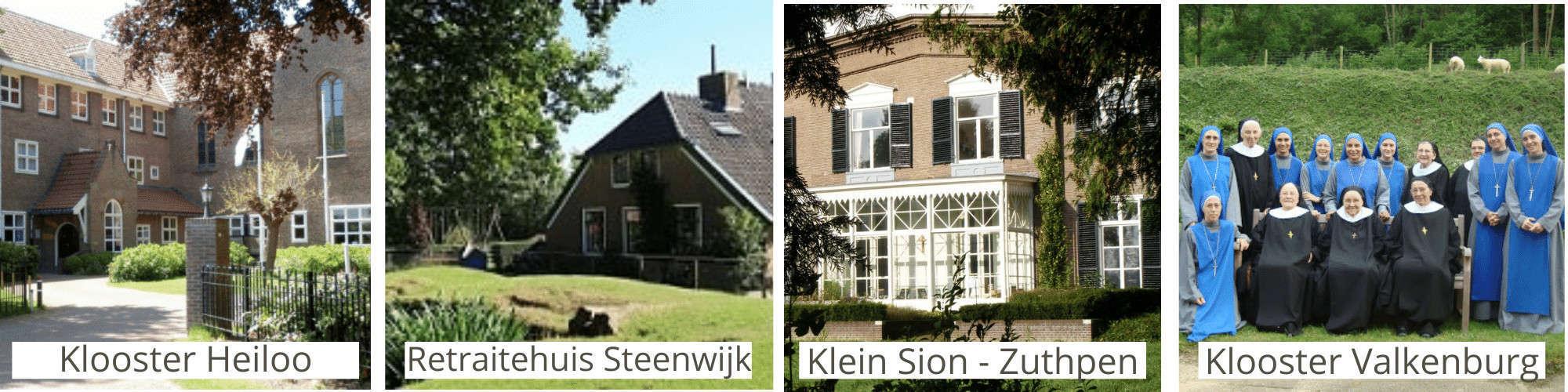 Kloosters in Nederland - Retraitelocaties